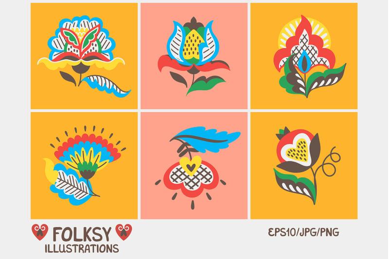 folksy-graphics-set