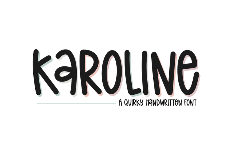 karoline-quirky-handwritten-font