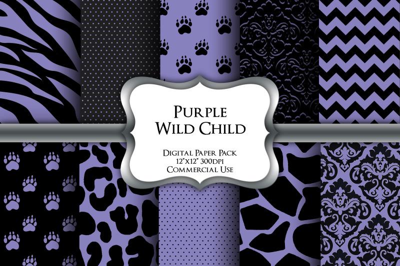 purple-wild-child-safari-digital-paper-pack