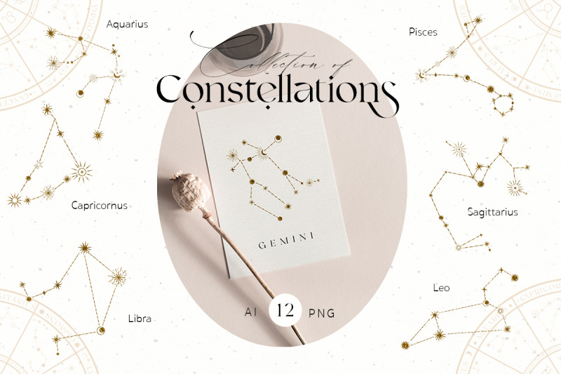 zodiac-celestial-constellations-set
