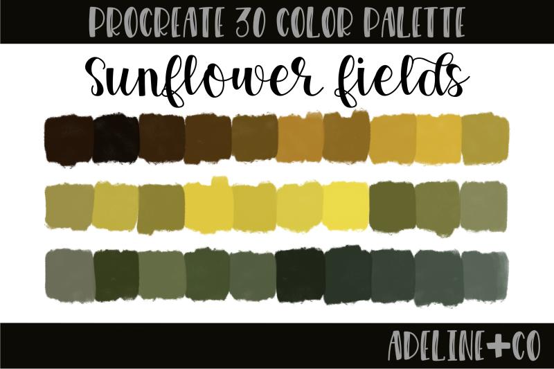 30-color-sunflower-fields-palette