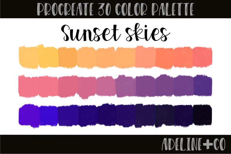 30-color-sunset-skies-palette