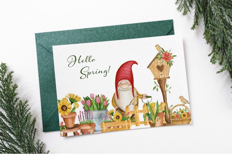 garden-gnomes-spring-watercolor-set