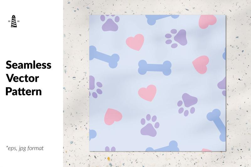 dog-paw-bone-seamless-pattern
