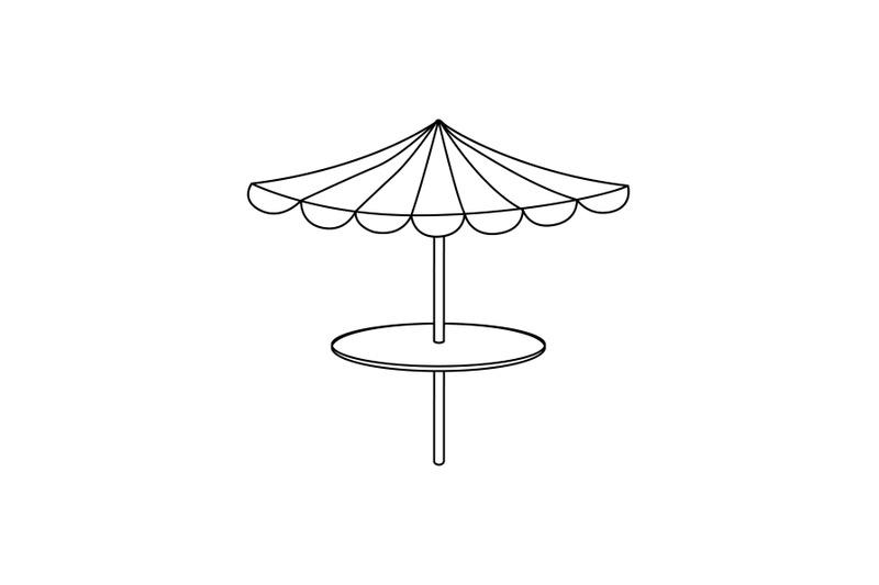 umbrella-swimming-pool-outline-icon