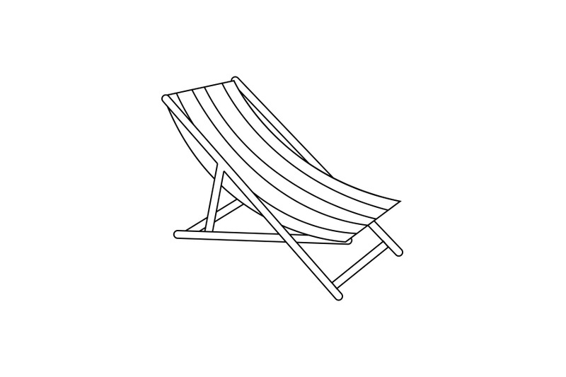 sun-lounger-outline-icon