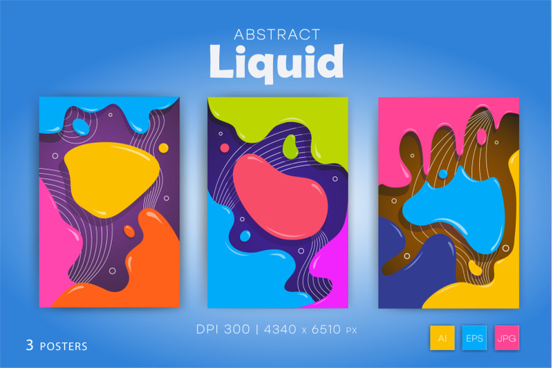 colorful-posters-in-liquid-style