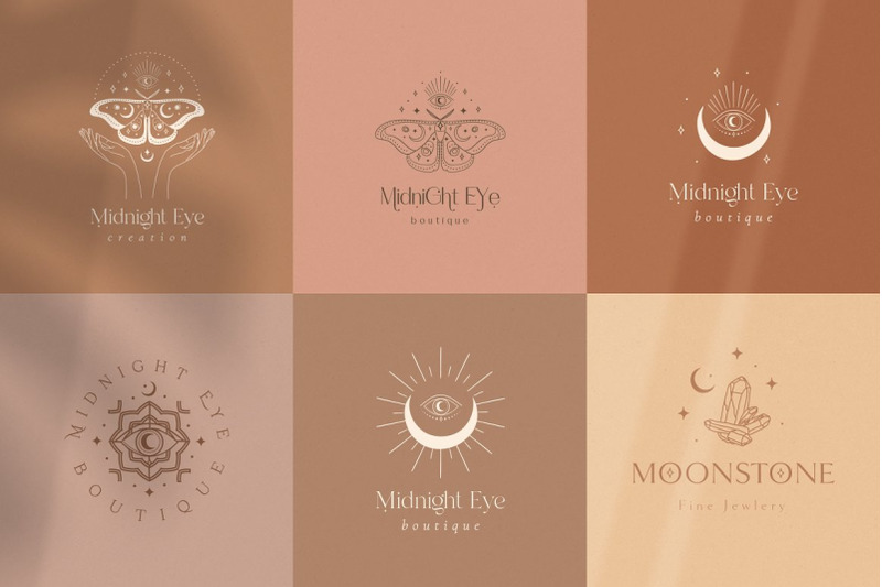 mysterious-logos-collection-fully-editable-pre-made-logo-templates