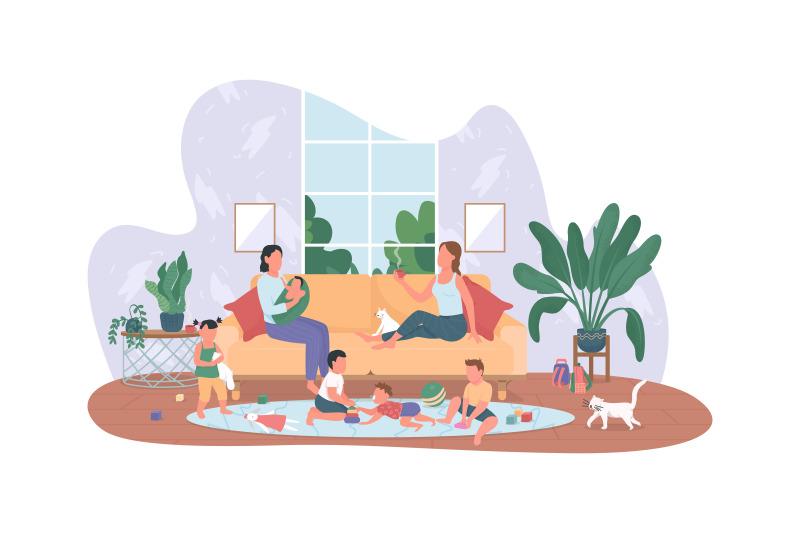 babysitting-2d-vector-web-banner-poster
