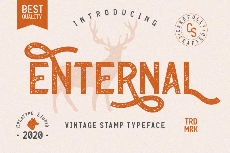 enternal-vintage-stamp-typeface
