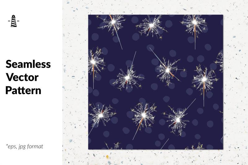 sparklers-seamless-pattern