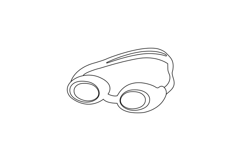 swimming-glasses-outline-icon