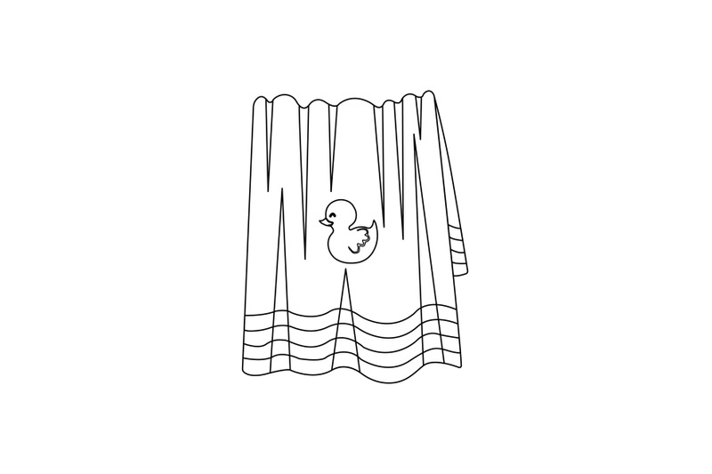 towel-swimming-pool-outline-icon