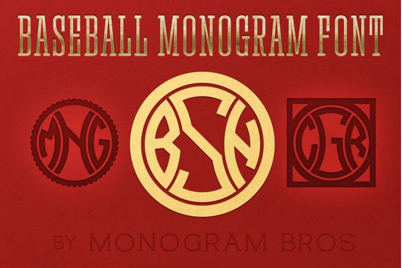 baseball-monogram-font