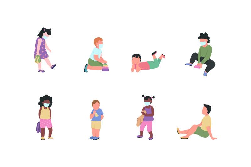 kindergarten-children-flat-color-vector-faceless-characters-set