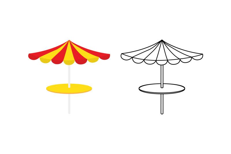umbrella-swimming-pool-fill-outline-icon