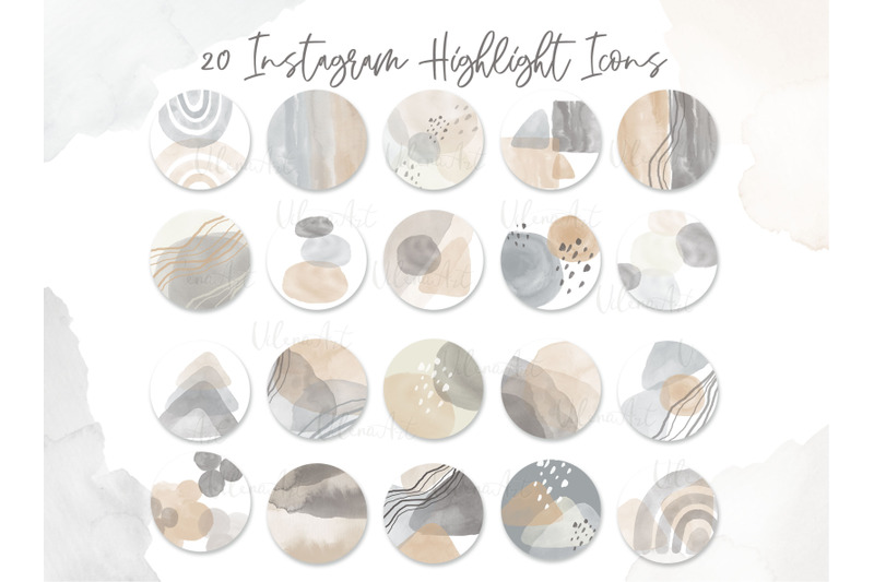 neutral-abstract-watercolor-highlight-covers-modern-instagram-icons