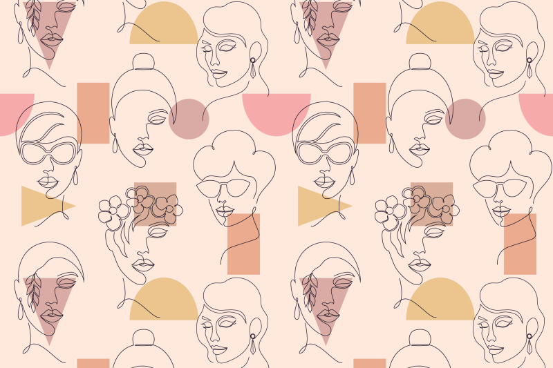 faces-and-geometric-shapes