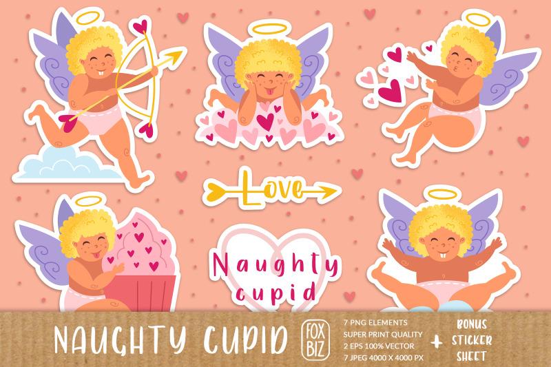 naughty-cupid-cherub-st-valentine-039-s-day-clip-art