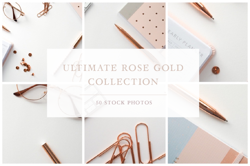 Download The Ultimate Rose Gold Collection Free Mockups