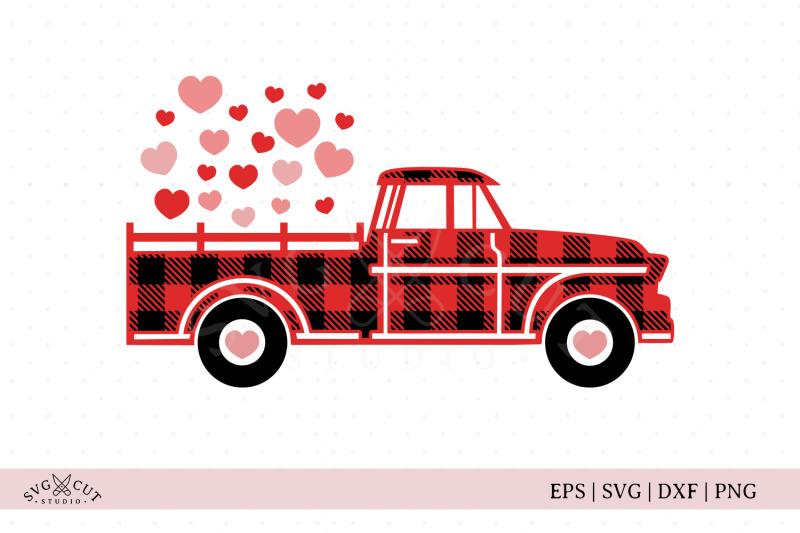 plaid-valentine-truck-svg-files