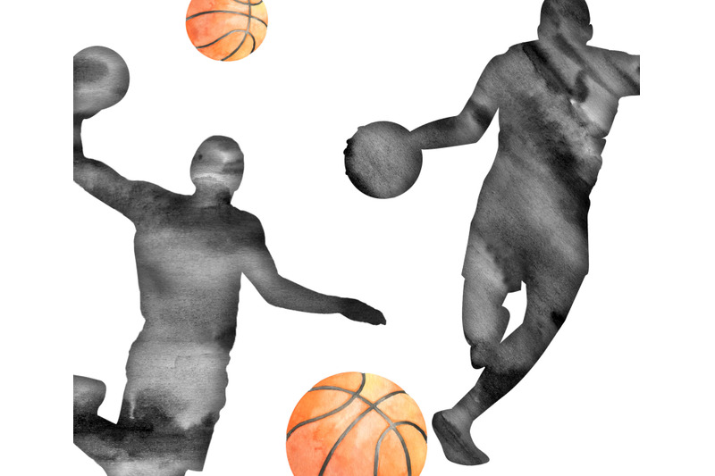 watercolor-basketball-clipart-sports-clip-art-basketball-player-basket
