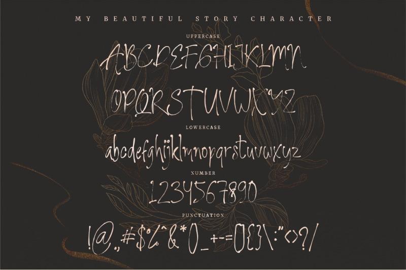 my-beautiful-story-stylish-font