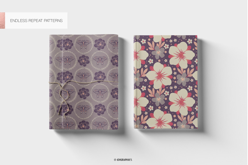 the-butterfly-garden-colorful-vector-patterns-and-tiles