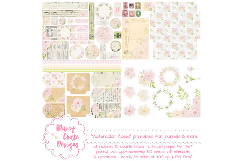 watercolor-roses-printable-journal-kit-with-ephemera-for-junk-journals-planners-tags-stationery-paper-crafts-card-making-happy-mail
