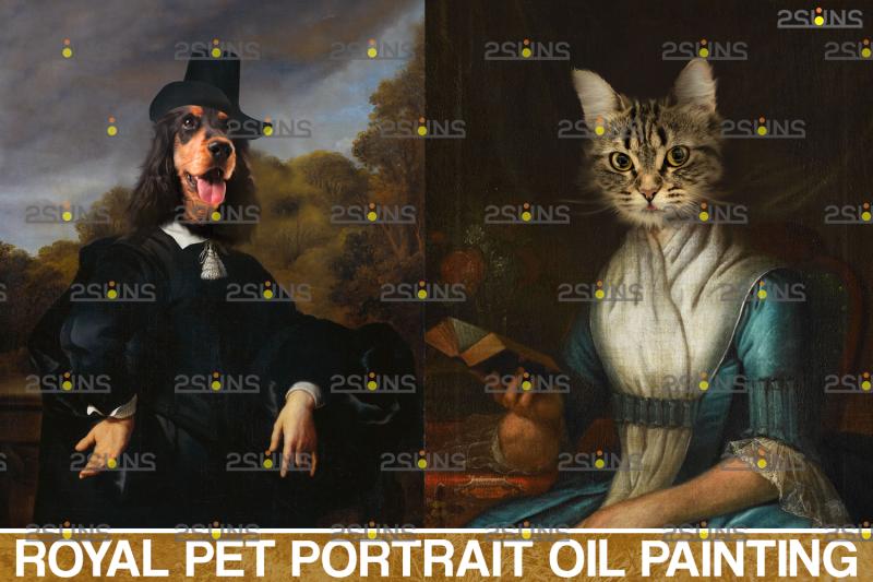 royal-pet-portrait-templates-vol-12-digital-pet-art-pet-painting