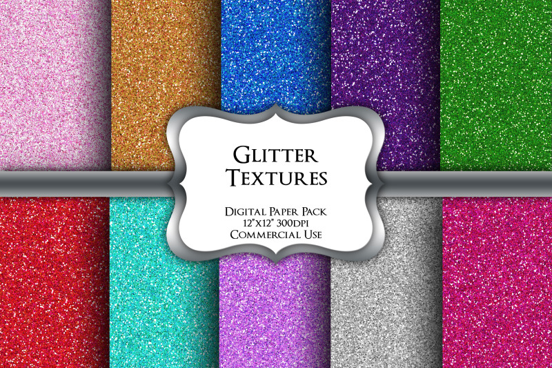 coloured-glitter-digital-paper-pack