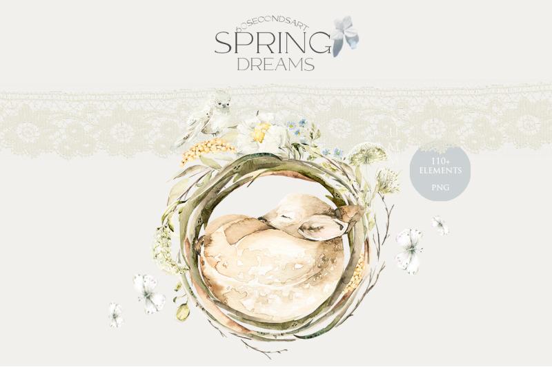 spring-dreams-watercolor-sleeping-animals