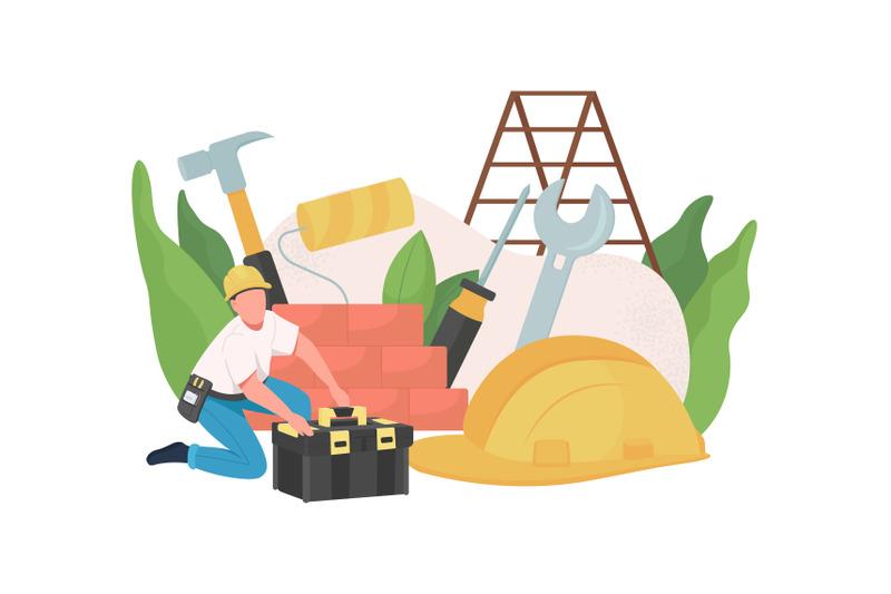 handyman-flat-concept-vector-illustration