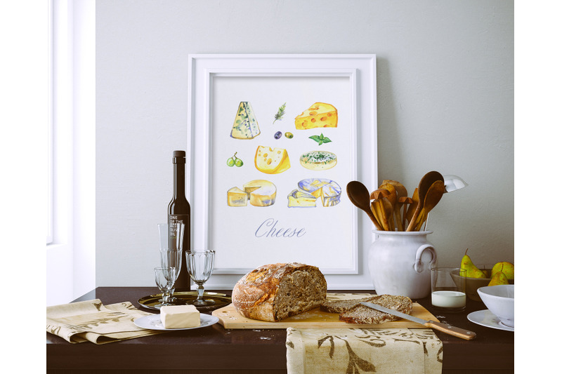 milk-and-cheese-watercolor-clipart