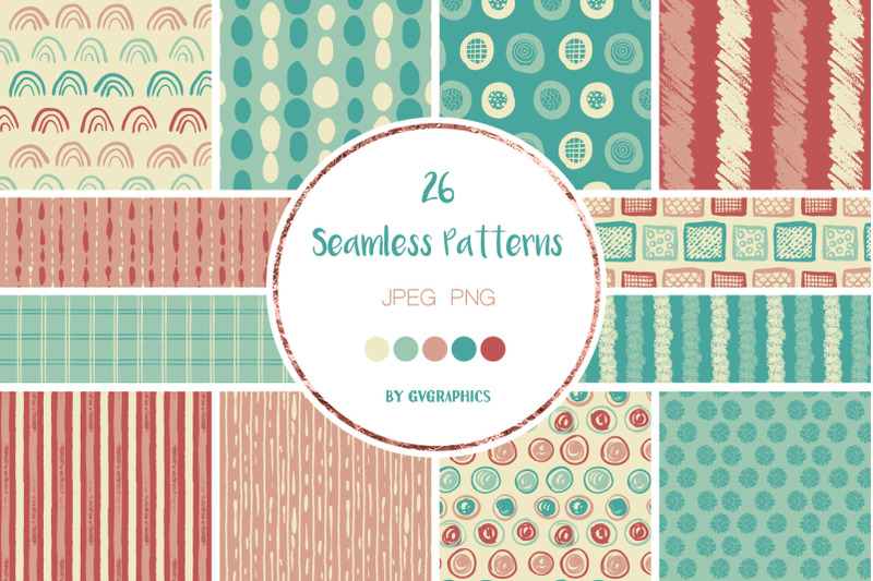 26-hand-drawn-scribbles-colorful-seamless-patterns