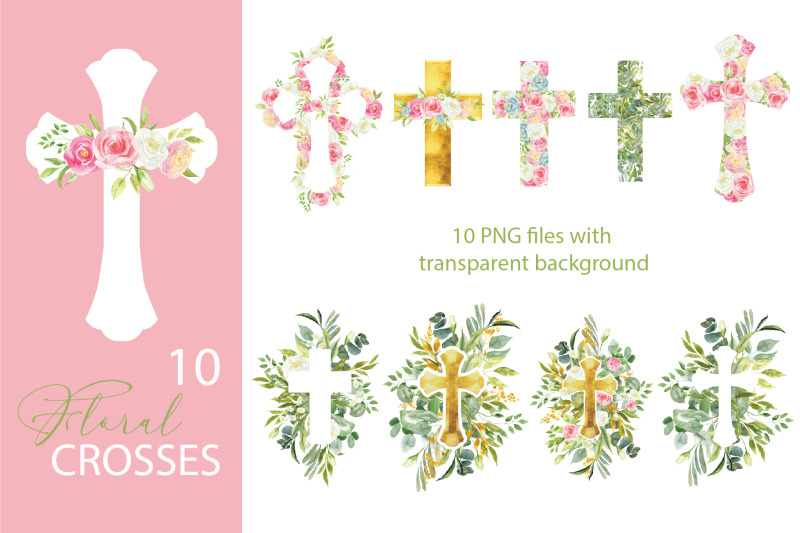 watercolor-floral-easter-cross-clipart