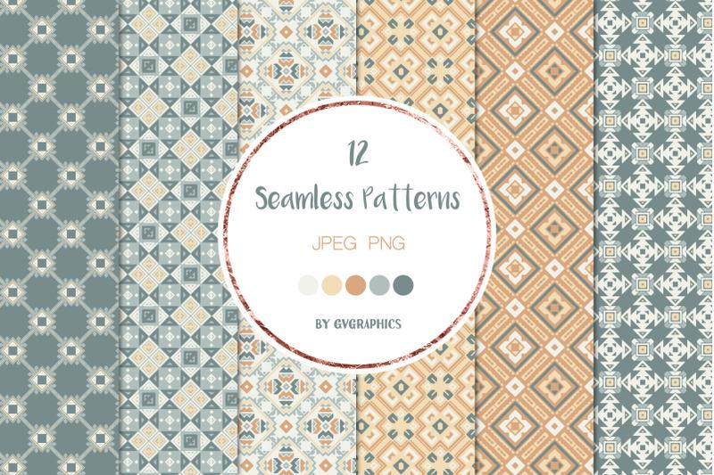 12-geometrical-ornaments-seamless-patterns