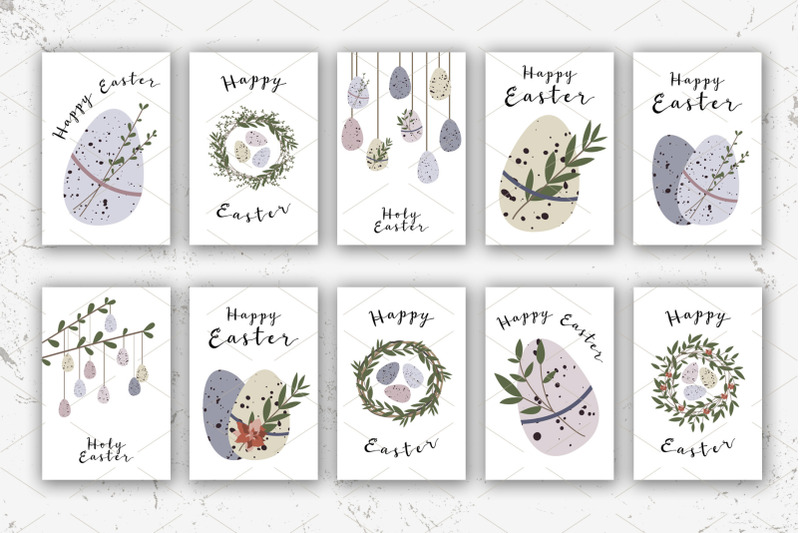 10-easter-cards-cute-easter-egg-eco-rustic-decoration