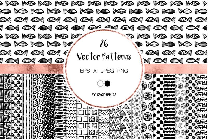 hand-drawn-modern-doodles-vector-patterns