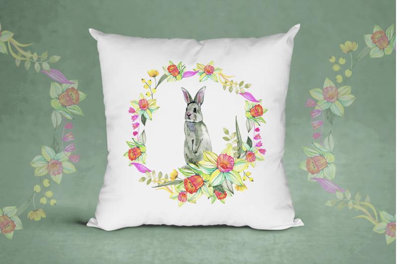 watercolor-spring-bunnies