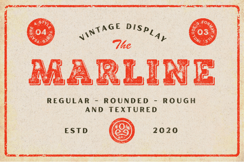 marline-vintage-texture-font