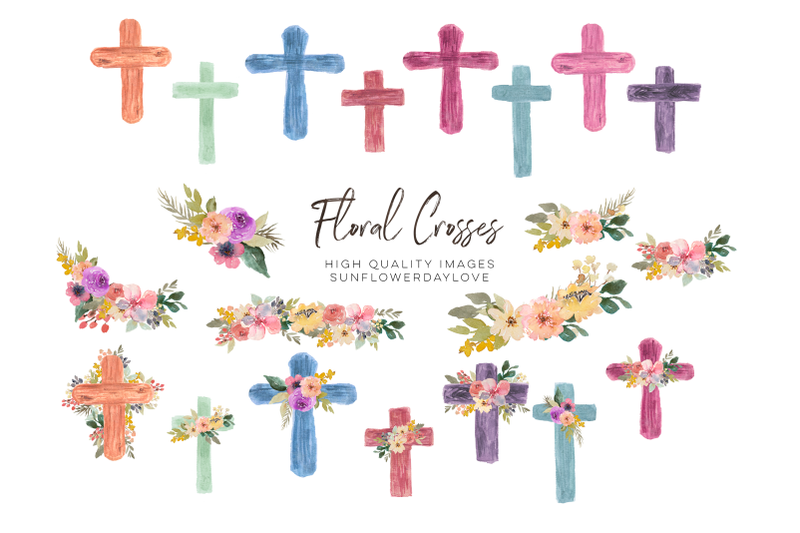 watercolor-floral-crosses-clipart-first-communion-flower-cross