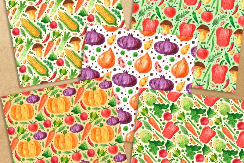 vegetables-digital-paper-seamless-pattern-packaging-design