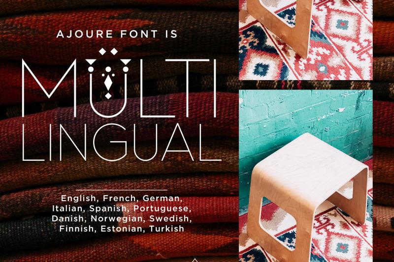 ajoure-folk-art-logo-font-family
