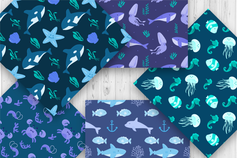 under-the-sea-seamless-pattern