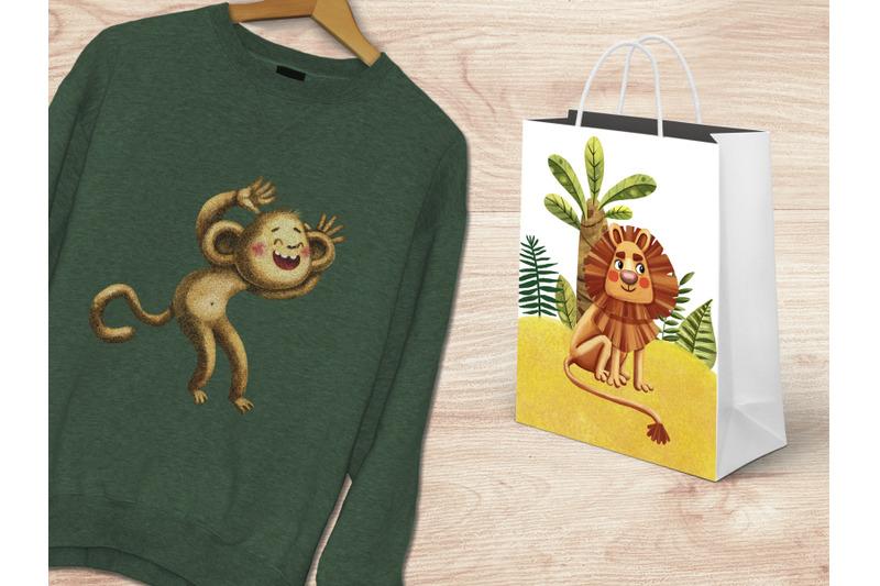 jungle-story-clip-art-set
