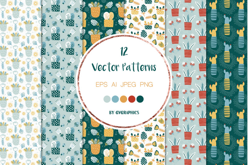 spring-flowers-and-birds-vector-patterns-and-tiles