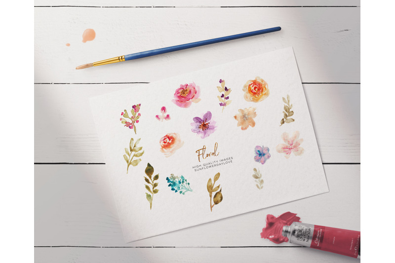 hand-painted-watercolour-floral-clipart-spring-floral-clipart-flower