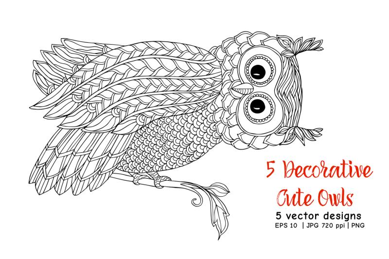 5-decorative-cute-owls