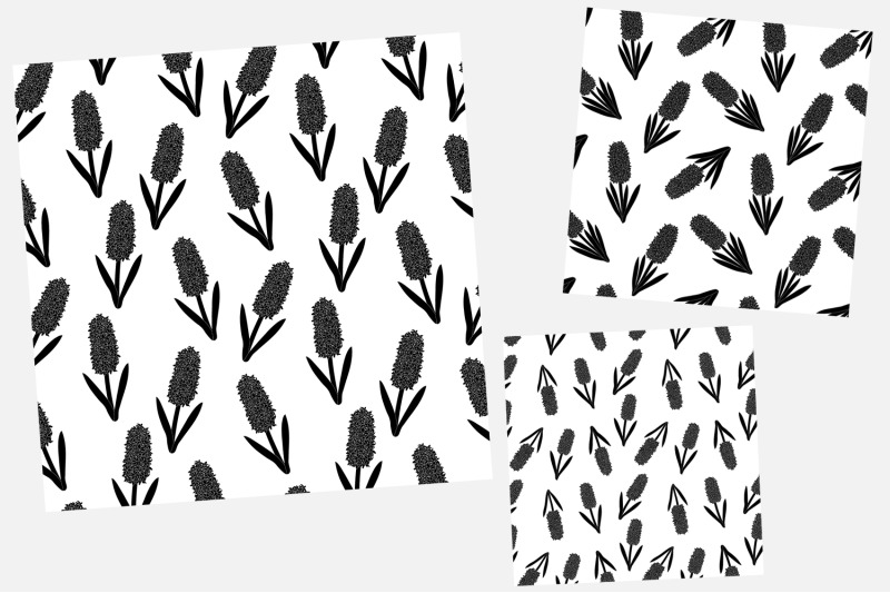hyacinths-silhouettes-pattern-flowers-silhouettes-pattern
